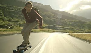 longboarding downhill