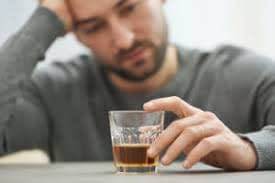 depressed and drinking alcohol